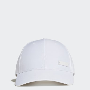 Field Hockey White Lightweight Metal Badge Baseball Cap
