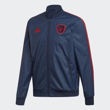 Mænd Fodbold Blå Arsenal anthem-jakke