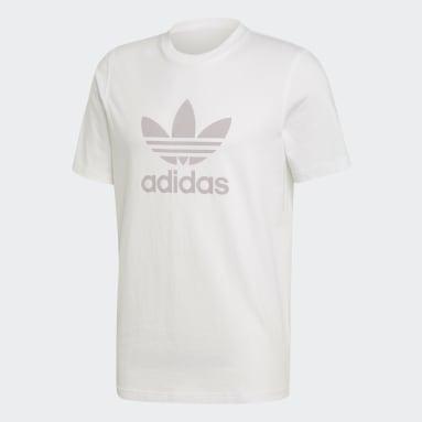 T-shirt Trefoil Bianco Uomo Originals