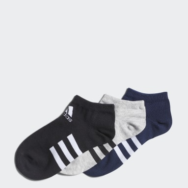 Kids Training Grey Low Socks 3 Pairs