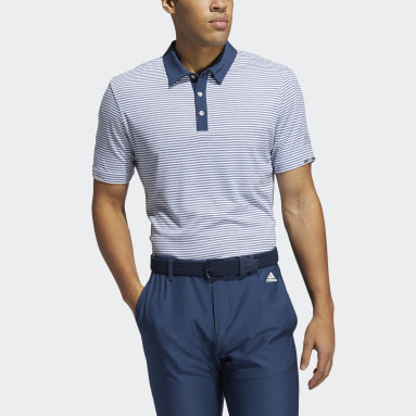 Men Golf Blue HEAT.RDY Micro-Stripe Polo Shirt