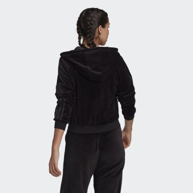 Women Originals Black LOUNGEWEAR Cropped Full Zip Hoodie