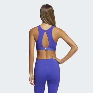 Women's Yoga Red Believe This Primeblue Bra