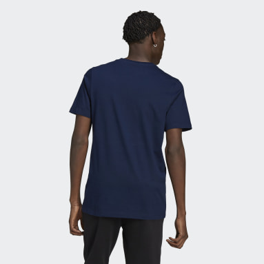 T-shirt Linear Logo Blu Uomo Originals