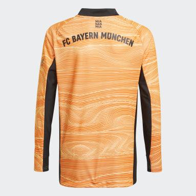 Boys Football Orange FC Bayern 21/22 Goalkeeper Jersey
