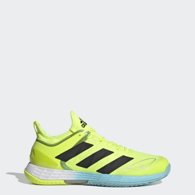 ผู้ชาย เทนนิส สีเหลือง รองเท้าเทนนิส Adizero Ubersonic 4