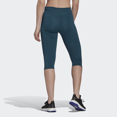 Women's Essentials Turquoise AEROREADY Capri Sport Tights