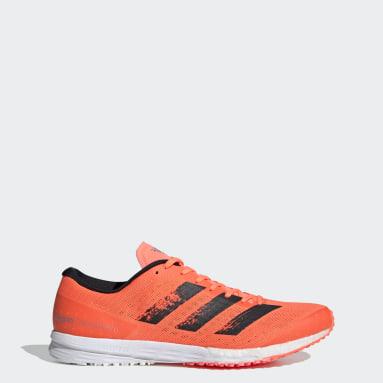 Men's Running Orange Adizero Takumi Sen 6 Shoes