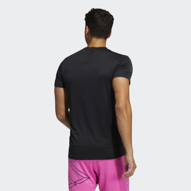 Men Gym & Training Black HEAT.RDY 3-Stripes Tee