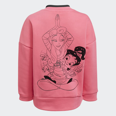 Girls Training Pink Disney Comfy Princesses Crew Sweatshirt