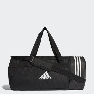 Field Hockey Black Convertible 3-Stripes Duffel Bag Medium