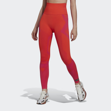 Women Training Orange Formotion Sculpt Two-Tone Tights