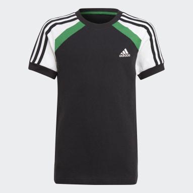 T-shirt Comfort Colorblock Nero Ragazzo Fitness & Training