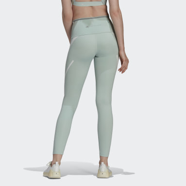 Women adidas by Stella McCartney Green adidas by Stella McCartney TRUEPACE Long Leggings