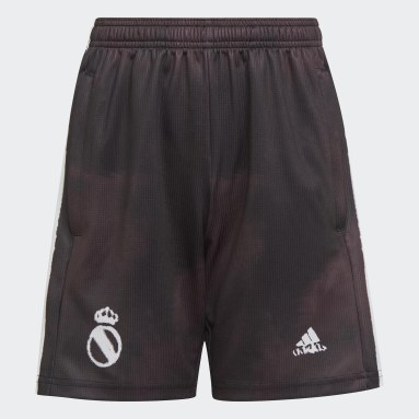 Kids Football Black Real Madrid Human Race Shorts