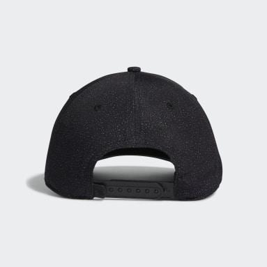 Men Golf Black Digital Print Cap