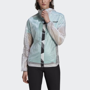 Women TERREX White Terrex Agravic Pro WIND.RDY Windbreaker