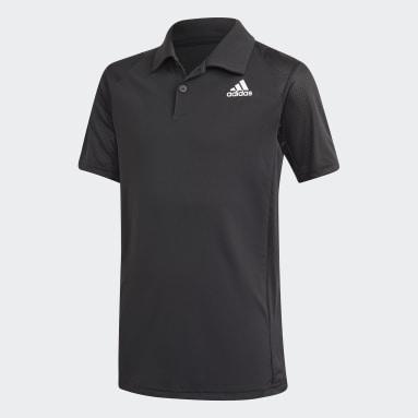 Polera con Cuello de Tenis Club Negro Niño Tenis
