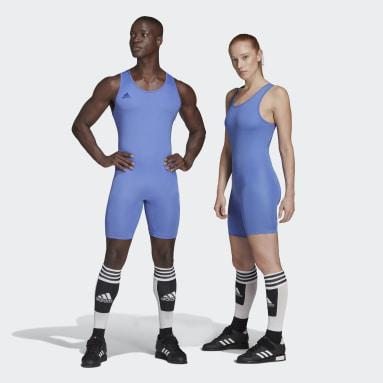 Cross Training modrá Vzpěračský trikot