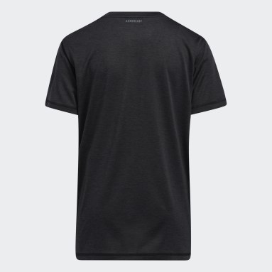 Youth Training Black Vertical Badge of Sport Mélange Tee