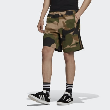 Men Originals Green Camo 3-Stripes Shorts