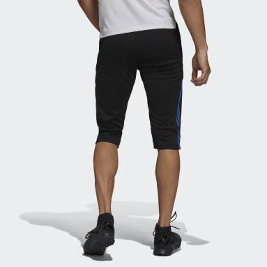 Men Football Black Real Madrid Tiro Training 3/4 Pants