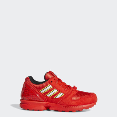 Chaussure adidas ZX 8000 x LEGO® rouge Adolescents Originals