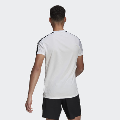 T-shirt Own The Run 3-Stripes Running Blanc Hommes Running