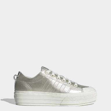 Women Originals White Nizza RF Platform Shoes