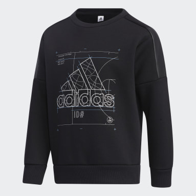 Boys Training Black Training Essentials Space Crew Sweatshirt