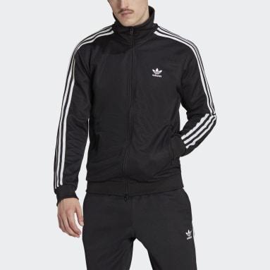 Muži Originals čierna Tepláková bunda Adicolor Classics Beckenbauer Primeblue