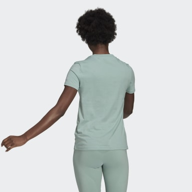 T-shirt Essentials Slim Logo Verde Donna Sportswear