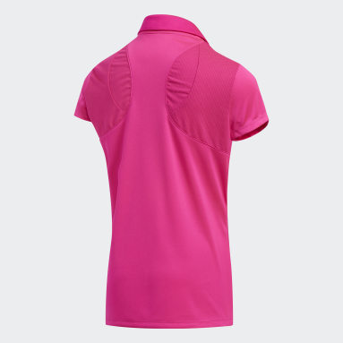 Youth Golf Pink Solid Fashion Polo Shirt
