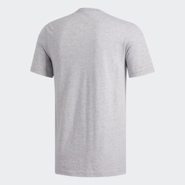 Men's Essentials Grey Badge of Sport Tee