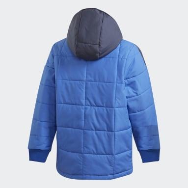 Børn Fitness Og Træning Blå Midweight Padded jakke