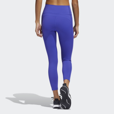 Women Gym & Training Purple Believe This 2.0 7/8 Tights