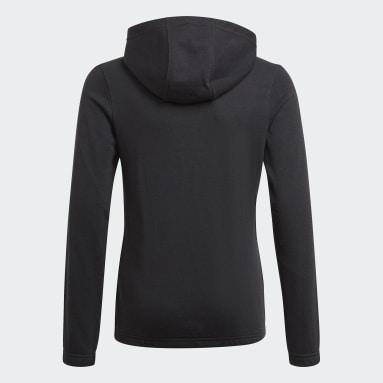 Camisola com Capuz 3-Stripes Essentials Preto Raparigas Sportswear