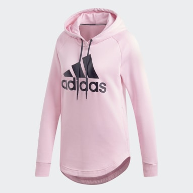 Sueter con capucha Must Haves Badge of Sport Rosado Mujer Sportswear