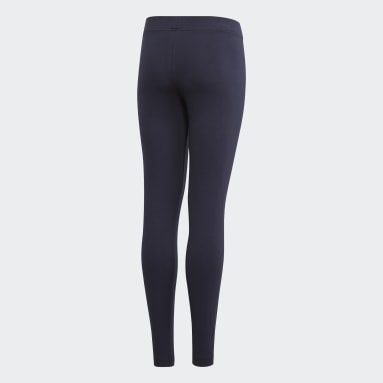 Girls Sportswear Blue Essentials Linear Tights