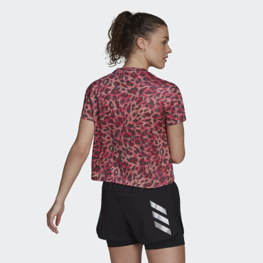 Frauen Running Fast Primeblue Graphic T-Shirt Rosa