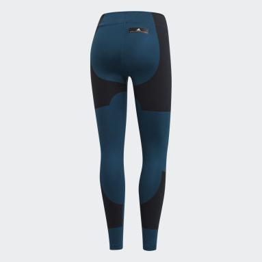 Women's adidas by Stella McCartney Blue Lycra FitSense+ Training Tights