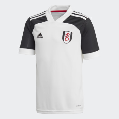 Boys Football White Fulham FC Home Jersey