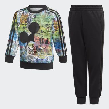 Children Training Black Disney Mickey Mouse Jogger Set