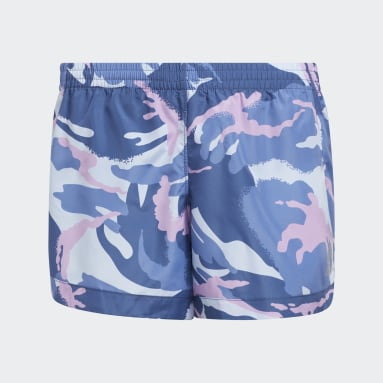 Youth Training Blue Print Woven Shorts