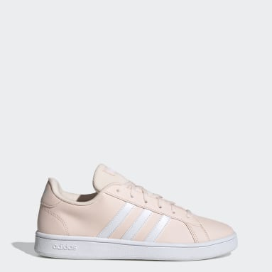 Women Sport Inspired Pink Grand Court Base Shoes