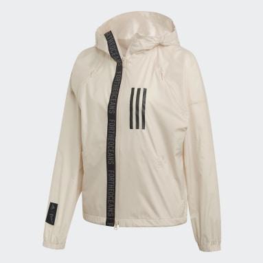 Women Sportswear Beige adidas W.N.D. Parley Jacket
