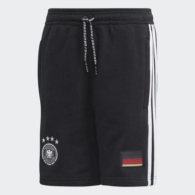 Kids Football Black Germany Shorts