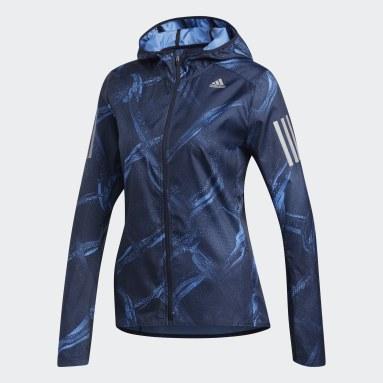 Casaca Own the Run Graphic Azul Mujer Running