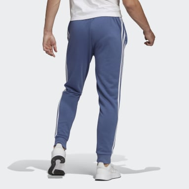 Pantaloni Essentials French Terry Tapered Cuff 3-Stripes Blu Uomo Sportswear