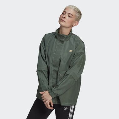 Women Originals Green R.Y.V. Windbreaker
